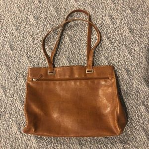 Coldwater Creek textured brown hand bag